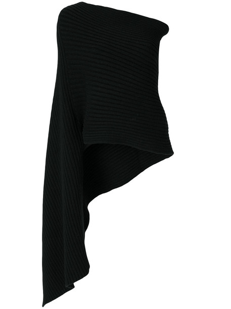 PRINGLE OF SCOTLAND women scarf black wool