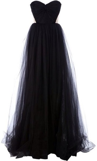 dress black prom dress long dress long prom dress tulle skirt tulle dress strapless dresses