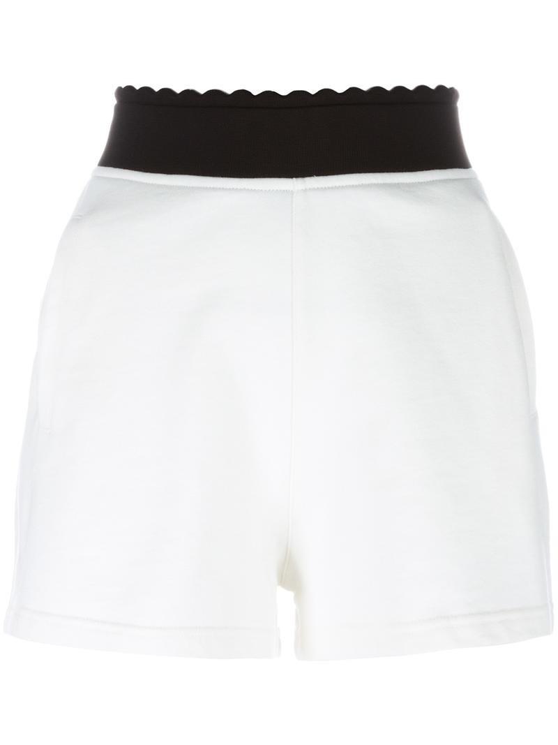McQ Alexander McQueen logo embroidered jersey shorts, Women's ...
