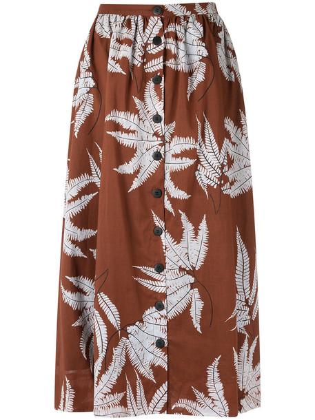 Andrea Marques skirt midi skirt women midi cotton