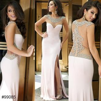 dress prom dress pink lace pastel sweetheart neckline