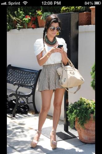 blouse shirt white blouse top cap top blouse cap sleeve kourtney kardashian