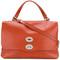 Zanellato - studded tote bag - women - calf leather - one size, yellow/orange, calf leather
