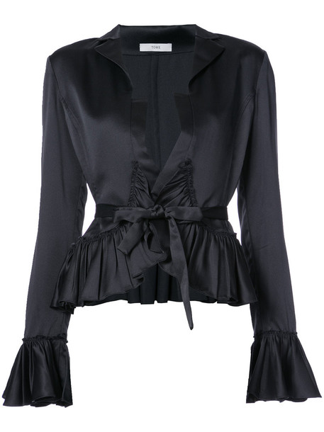 Tome blouse women black top