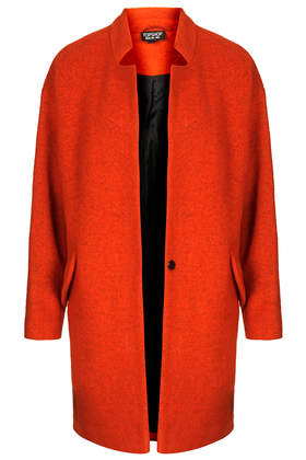 Boiled Wool Notch Neck Coat - Jackets & Coats - Clothing - Topshop USA