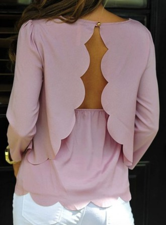 blouse pink cut-out