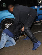 shoes,air max,kanye west,navy,paparazzi,sweater