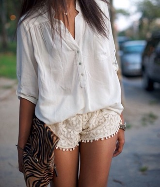 blouse white shirt style summer top fashion love quotes crochet shorts