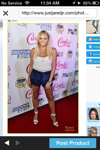 beauty style jewels alli simpson makeup, hair teen choice awards 2014 outfit pre party