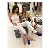 pants,white,stilettos,kendall and kylie jenner,keeping up with the kardashians,celebrity style,scott disick,miami,tank top,shoes