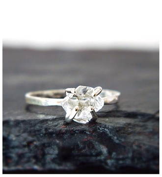 jewels engagement ring silver ring diamonds wedding ring www.camilaestrella.etsy.com etsy metalwork independence day