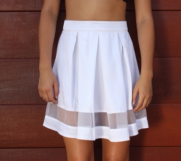 skirt white skirt white skirt swing skirt