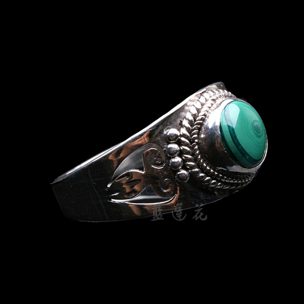 Nepal Handmade 925 Sterling Silver Malachite Ring - Wishbop.com