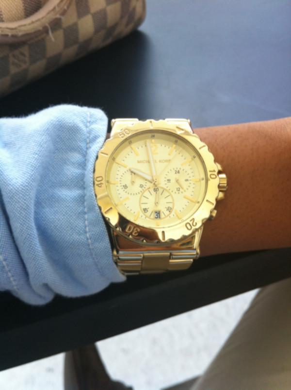 jewels michael kors watch gold