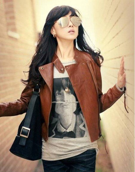 Wholesale New Arrival Free Shipping Ladies Faux Jacket /Fashion Jacket/ Slim Short Leather Jacket /Brown-in Leather & Suede from Apparel & Accessories on Aliexpress.com | Alibaba Group