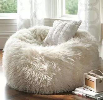 home accessory white bean bag cushion home