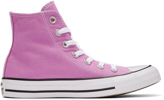 high classic sneakers purple shoes