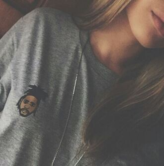 t-shirt clothes the weeknd cute grey