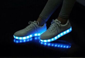 shoes sneakers low top sneakers glow in the dark trainers teenagers neon party party shoes white