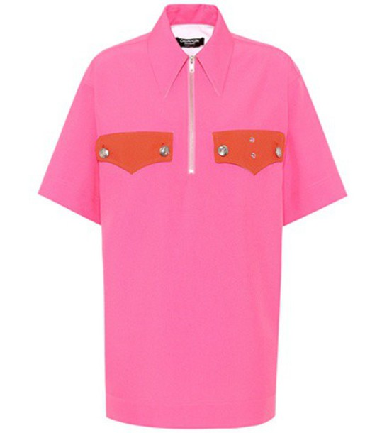 CALVIN KLEIN 205W39NYC shirt oversized shirt oversized pink top
