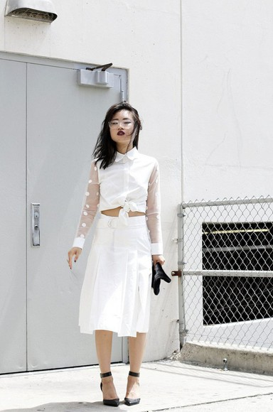 jewels blogger skirt top shoes la vagabonde dame cardigan