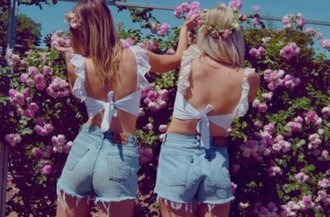 shirt crop tops white crop tops girly bow top white bow top levi's shorts pink roses lace top white lace top