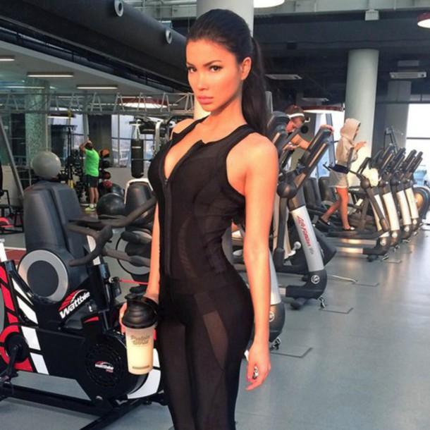 Jumpsuit Jumpsuit Gym Gym Sportswear Fitness Wheretoget