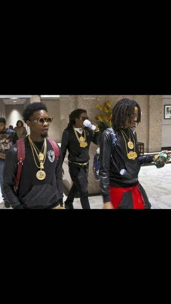t-shirt migos offset mens sweater leather sleeves black sweater