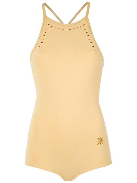 Nk - knit body - women - Polyamide/Spandex/Elastane/Viscose - G, Yellow/Orange, Polyamide/Spandex/Elastane/Viscose
