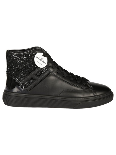 glitter sneakers black shoes