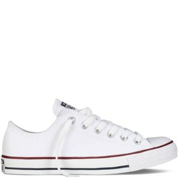 Converse Chuck Taylor All Star Shoes (M7652) Low Top in Optical White on Wanelo