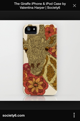 phone cover giraffe iphone 4 case african american floral