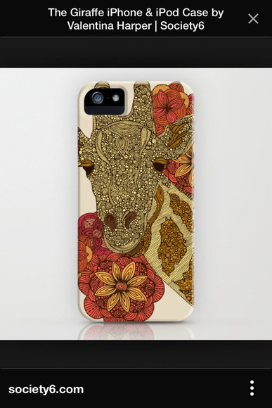 floral phone case giraffe phonecover iphone 4 case african