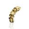 Gold plated draped ear cuff