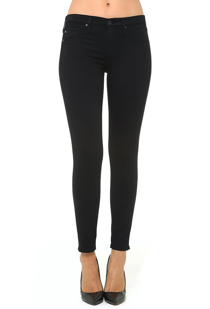 The Sateen Legging Ankle - Super Black | AG Jeans Official Store
