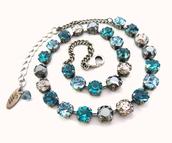 jewels,swarovski necklace,swarovski jewelry,swarovski choker,blue and gray,elegant necklace,bling,sparkly necklace,sparkly jewelry,gifts for her,turquoise necklace,blue necklace,aqua necklace,sparkle,glamour,trendy,siggyjewelry,siggy necklace,sabika style,gift ideas,gifts for mom,gifts for wife.,swarovski,robins egg,sabika inspired