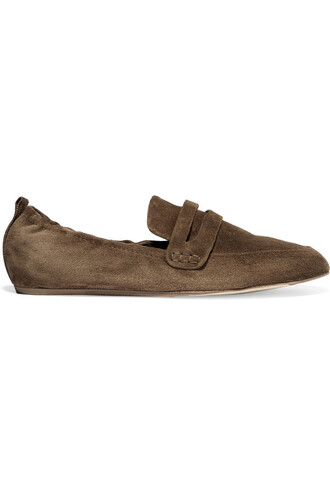 slippers suede brown shoes
