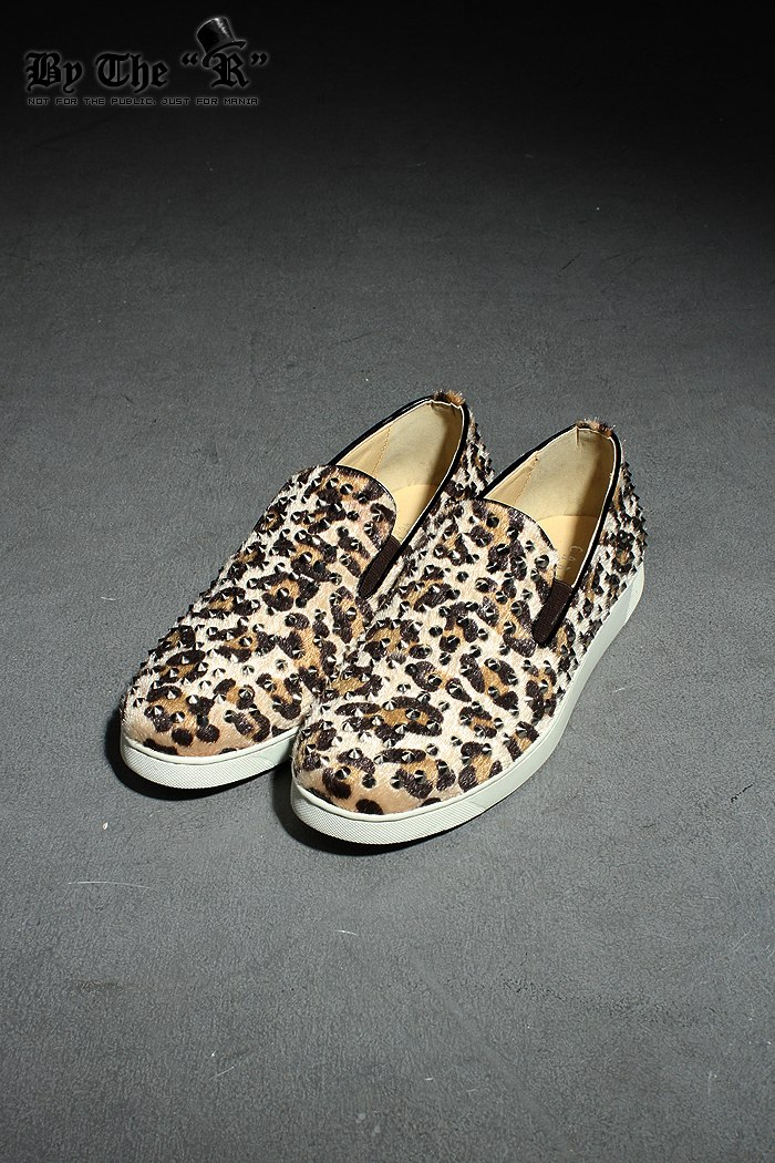 Mens 7019 Leopard Stud Slip-on Flats Shoes Byther Korea Fashion | eBay