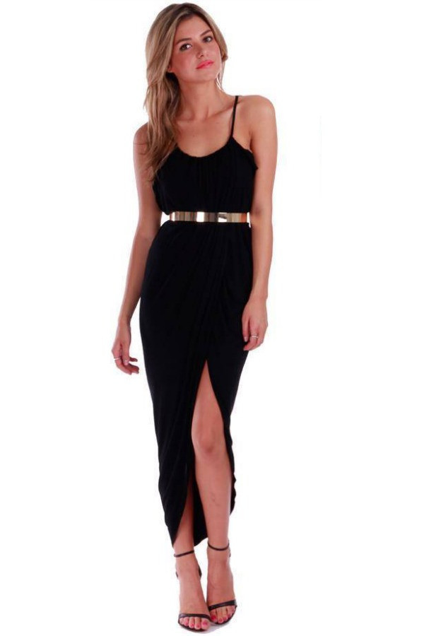 Chic kate moss slouch front split dress (4 colors available)