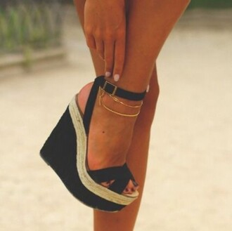 shoes black heels plateau summer shoes sneakers high high heels black heels wedge wedges jewelry boho bohemian vogue chanel tumblr hipster internet instagram shoespie micheal kors