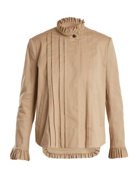 jacket cotton camel