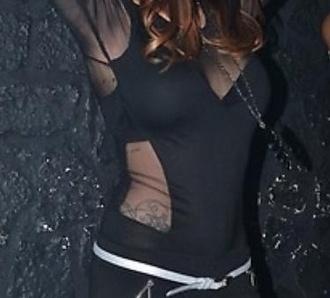shirt black black top lace lace top black shirt top-noir-transparent see through transparent top semi-transparent mesh top
