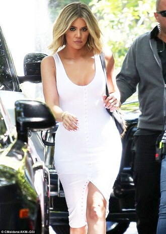 dress khloe kardashian celebrity celebrity style celebstyle for less kardashians keeping up with the kardashians white ress white dress bodycon bodycon dress slit dress party dress sexy party dresses sexy sexy dress party outfits sexy outfit summer dress summer outfits spring dress spring outfits classy dress elegant dress cocktail dress cute dress girly dress date outfit birthday dress clubwear club dress graduation dress prom dress homecoming homecoming dress engagement party dress wedding dress wedding clothes wedding guest romantic dress romantic summer dress dope white