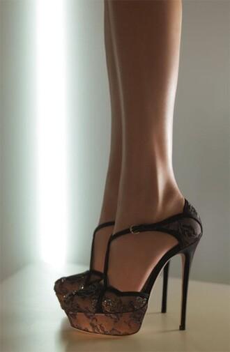 lace shoes black shoes shoes heels high heels cute high heels black high heels laced high heels black lace christian louboutin sneakers christian louboutin heels
