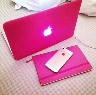 home accessory macbook cover phone cover pink style apple laptop computer case computer accessory