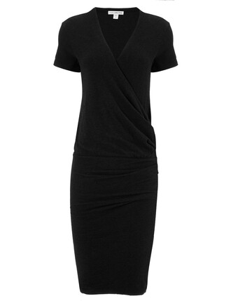 dress wrap dress black