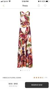 dress,hibiscus flower,theia