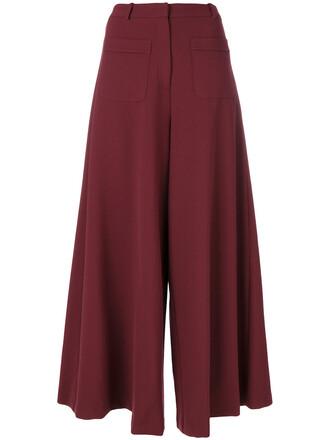 women spandex cotton red pants