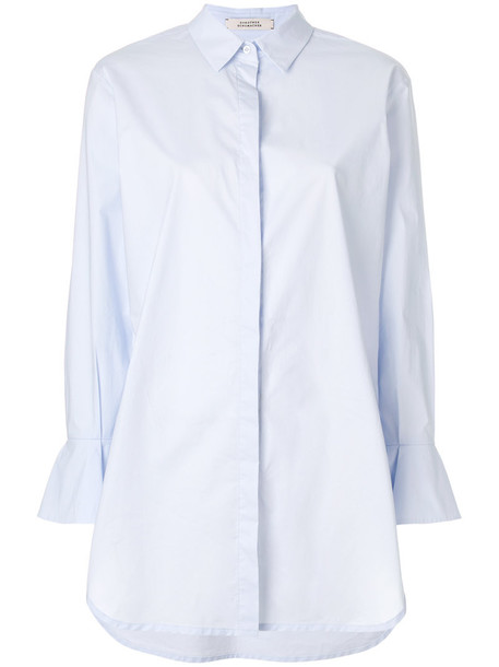 Dorothee Schumacher shirt women spandex cotton blue top
