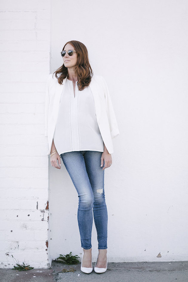 could i have that blogger top jeans sunglasses jacket jewels